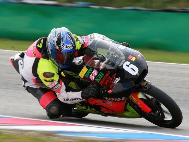 Brodský motocyklista Michal Prášek (na snímku) poslední závod sezony nedokončil, zradila ho motorka.