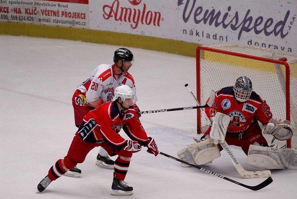Z hokejového utkání Havlíčkův Brod - Olomouc.