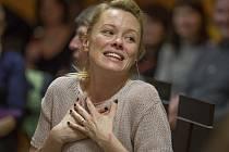 Herečka Linda Rybová ukázala v Chotěboři i svůj smysl pro humor.