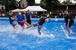 Turnaj ve vodním fotbalu.
