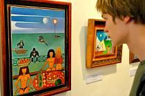 Josef Hlinomaz platil za skvělého komika a smysl pro humor a nadsázku přenášel i na své obrazy. Ty budou až do 11. května k vidění v brodské Galerii výtvarného umění.