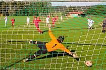 Pokutový kop byl ve prospěch Pohledu odpískán ve 35. minutě zápasu a takto ho proměnil Michal Sobotka. Díky této trefě se Pohledští radovali ze zisku tří bodů.