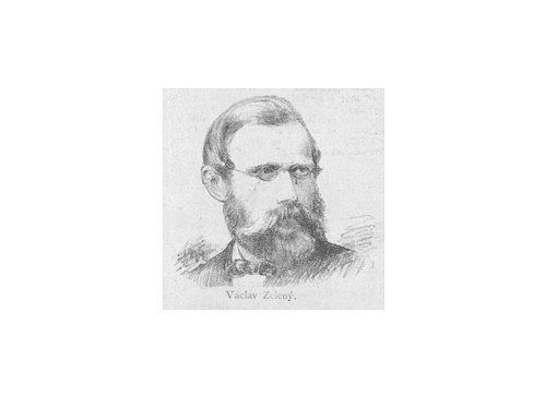 Václav Zelený zachycený kresbou Jana Vilímka.