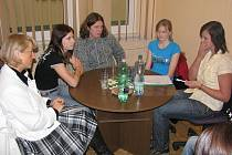 Setkání studentů Střední zemědělské školy v Havlíčkově Brodě se starostkou Janou Fischerovou.