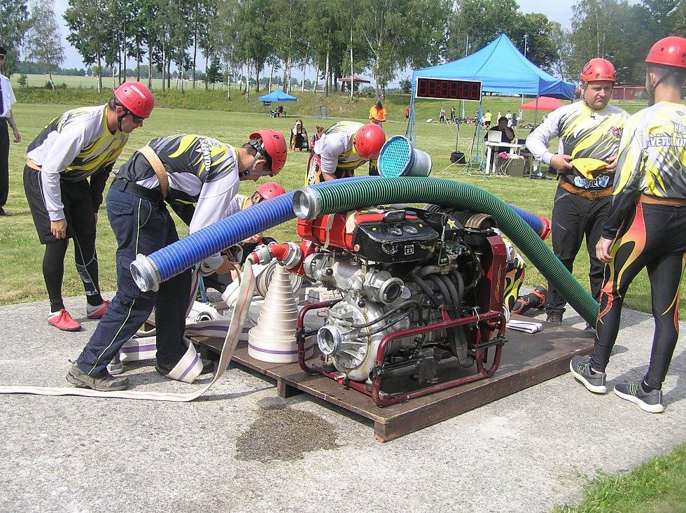Celodenní soutěže v požárním sportu se v Brodě zúčastnily téměř dvě desítky družstev.