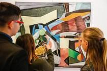 Výstava pod názvem Síla barvy od grafika a malíře Josefa Sasky.