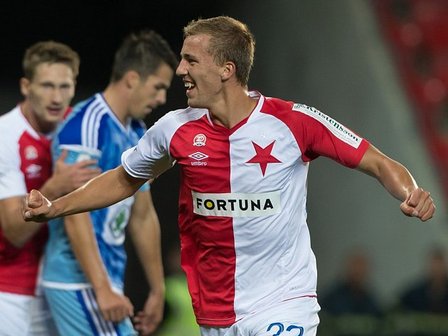 Dva góly vstřelil na podzim odchovanec havlíčkobrodského fotbalu Tomáš Souček v dresu pražské Slavie.
