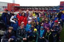 Malí fotbalisté z Golčova Jeníkova se vypravili do Jihlavy na prvoligový zápas.