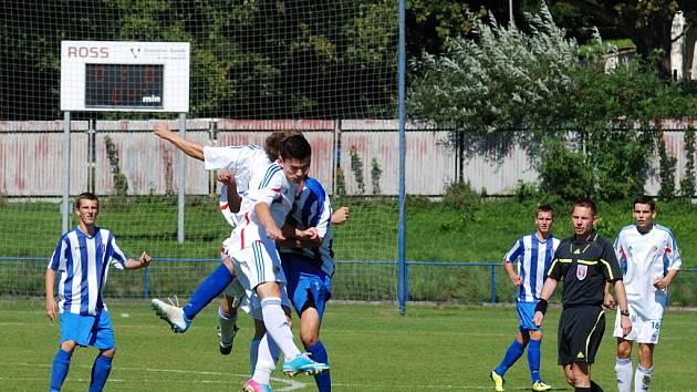 Štěstěna. Ta se v ligovém zápase dorostu mezi Znojmem a Havlíčkovým Brodem přiklonila na stranu domácích.
