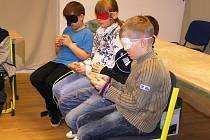 Vyzkoušet si svět nevidomých mohli brodští školáci na vlastní kůži.