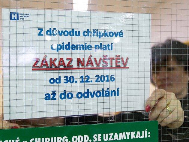 V pondělí na Vysočině zůstával v platnosti zákaz návštěv ve čtyřech krajem zřizovaných nemocnicích, výjimkou je pouze Nové Město na Žďársku.