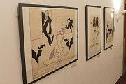 V Galerii výtvarného umění v Havlíčkově Brodě teď lidé mohou obdivovat výstavu předválečné i poválečné karikatury.