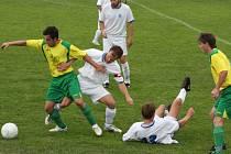 Fotbalisté Dlouhé Vsi a Přibyslavi se v sousedském derby rozešli smírně.