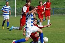Osm bodů. Ty si celkem dovezli ligoví žáci brodského Slovanu z Břeclavi, která je na samém chvostu tabulky.