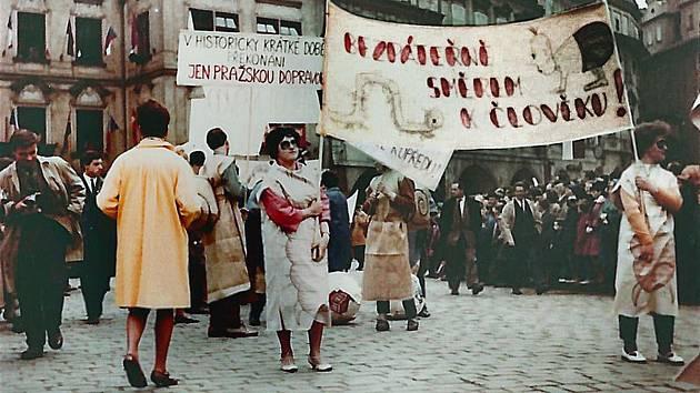 Historický studentský majáles 1965.