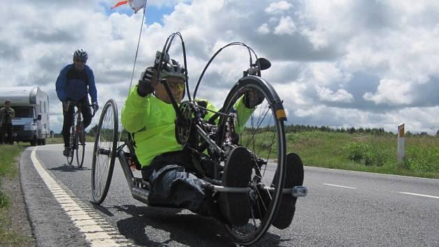 Vozíčkář Heřman Volf dokončil 5. července čtvrtou a závěrečnou cestu křížem krážem Evropou na handbiku – speciálním kole s ručním pohonem.