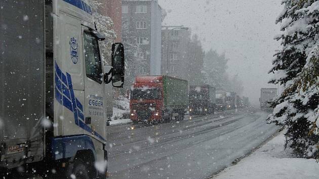 Dopravní situace v Havlíčkově Brodě.