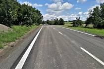 Opravený úsek silnice I/34 mezi Ždírcem nad Doubravou a hranicí Kraje Vysočina a Pardubického kraje.