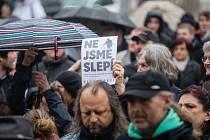 Akce na podporu nezávislosti české justice a vlivu Andreje Babiše na náměstí v Havlíčkově Brodě.