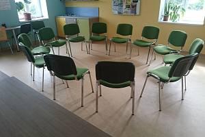 Prostory pro novou terapeutickou skupinu.