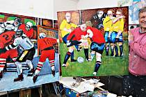 Poprvé maloval sport.