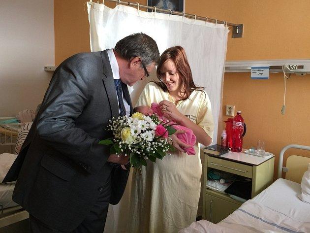 První miminko na Vysočině se narodilo v Havlíčkově Brodě.