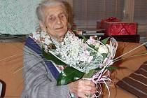 Marie Kosprdová z Kožlí oslavila 27. listopadu sté narozeniny.