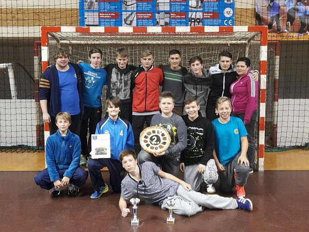 Úspěšný tým mladých házenkářů Jiskry.