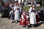 Škubánek na Staročeských Velikonocích na Michalově statku v Pohledi.