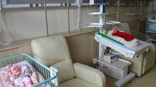 Porodnice v Havlíčkobrodské nemocnici.
