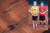 Vítězem se na brodském Rebut cupu stal Filip Apltauer (na malém snímku vlevo), který ve finále porazil Dominika Rouchala.