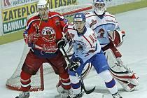 Z hokejového utkání Havlíčkův Brod - Tábor.