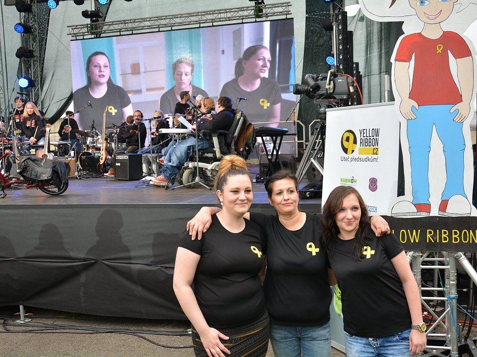 Koncert kapely The Tap Tap v ženské věznici ve Světlé nad Sázavou. Foto: archiv věznice