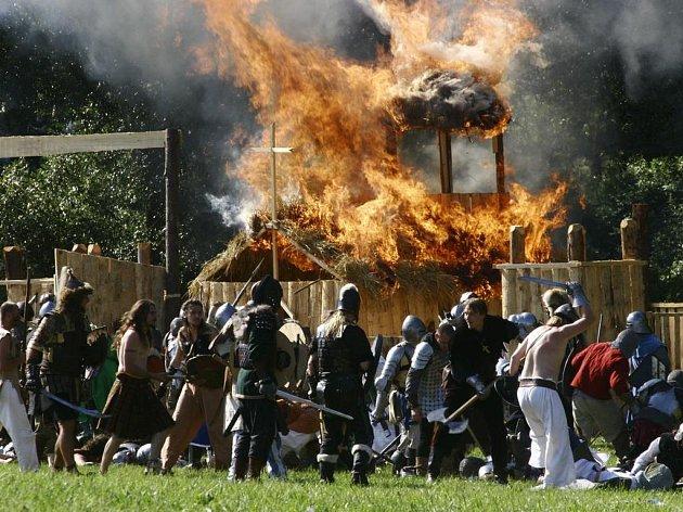 Rytíři pod vlajkou knížete Notorixe de Natur tak proti krvelačným barbarům neměli žádnou šanci.