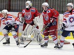 Porazit poprvé v sezoně chtějí junioři BK (v tmavém) rivala z Třebíče, se kterým už třikrát prohráli.