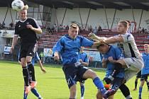 Dvěma góly se v Napajedlech prezentoval brodský stoper Ondřej Berky (v černém), který má zásluhu na remíze 3:3.