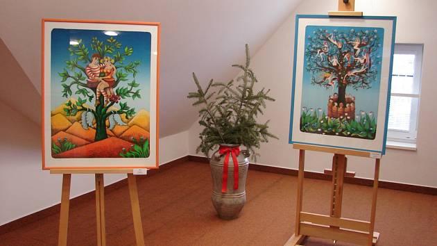 Výstava litografií Emmy a Barbory Srncových ve Světlé nad Sázavou.