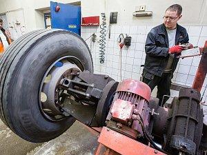 Výměna pneumatik na Vysočině