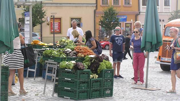 Náměstí v Havlíčkově Brodě v sobotu patřilo trhům.