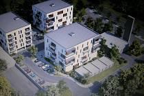 Parkovací dům chce podle návrhu radnice v Brodě postavit vedle staré kotelny (vpravo).