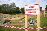 Stavba nové truhlárny v průmyslové zóně v Libici nad Doubravou