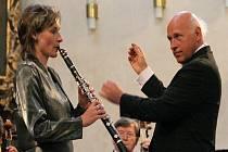Broďačka Kateřina Koukalová - Váchová vystoupila s orchestrem z Mannheimu.