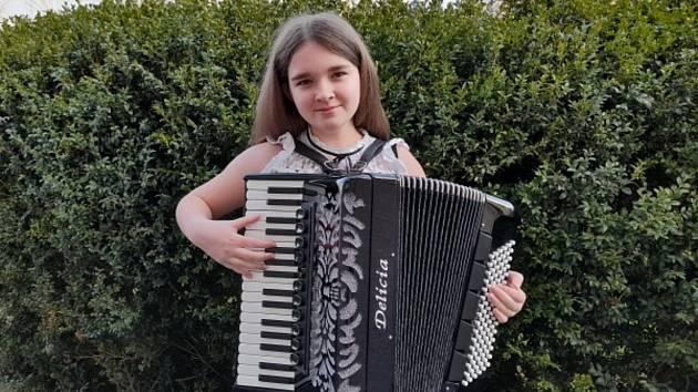 Liliana Beránková před soutěžním výkonem.