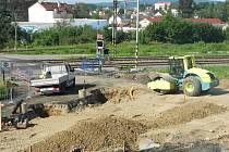 Opravy silnice ve Světlé nad Sázavou