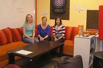 O klienty Nízkoprahového klubu se starají Jana Nieslerová, Radka Doležalová a Kateřina Uchytilová.