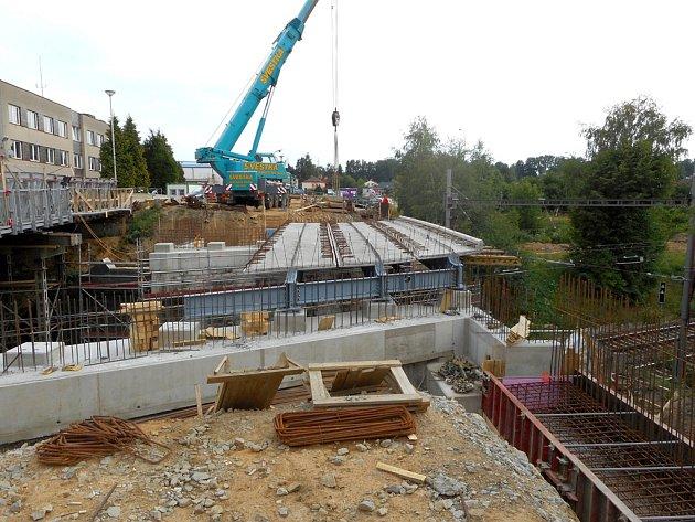 Oprava mostu.