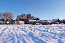 Hrad Kámen v zimě