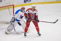 V úterý si budou moci zajistit postup do finále play-off II. ligy hokejisté Havlíčkova Brodu (v červeném). V sérii nad Valašským Meziříčím (v bílém) vedou 2:1 na zápasy.