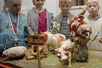 Děti i dospělí si mohou do 26.července v brodské Galerii výtvarného umění prohlédnout, jak ve skutečnosti vypadají loutky ze známých animovaných filmů.