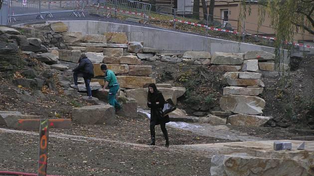 Hřiště v parku Budoucnost.